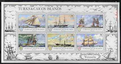 Turks & Caicos Islands 1973 Vessels perf m/sheet unmounted mint, SG MS 402