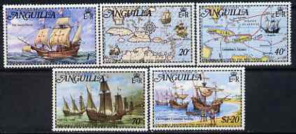 Anguilla 1973 Columbus Discovers the West Indies (Ships) perf set of 5 unmounted mint, SG 159-63