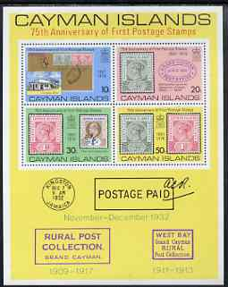 Cayman Islands 1976 75th Anniversary of First Postage Stamp perf m/sheet unmounted mint, SG MS 403