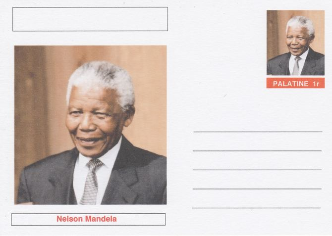 Palatine (Fantasy) Personalities - Nelson Mandela postal stationery card unused and fine