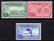 British Honduras 1960 Post Office Centenary perf set of 3 unmounted mint, SG 191-93