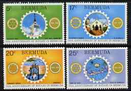 Bermuda 1974 50th Anniversary of Rotary in Bermuda perf set of 4 unmounted mint, SG 320-23