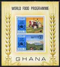 Ghana 1973 Tenth Anniversary of World Food Programme perf m/sheet unmounted mint, SG MS 681