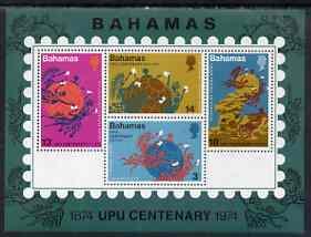 Bahamas 1974 UPU Centenary perf m/sheet unmounted mint, SG MS 428