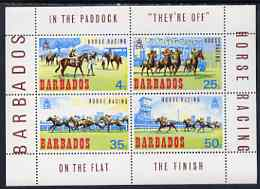 Barbados 1969 Horse Racing perf m/sheet unmounted mint, SG MS 385