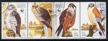 Malta 1991 WWF - Endangered Species (Birds of Prey) perf set of 4 fine used, SG 898-901