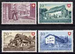 Switzerland 1949 National Fête & Aid to Youth Fund perf set of 4 unmounted mint, SG 506-509