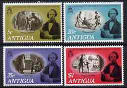 Antigua 1970 Death Centenary of Charles Dickens perf set of 4 unmounted mint, SG 265-68