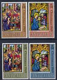 Antigua 1969 Christmas - Stained Glass Windows perf set of 4 unmounted mint, SG 252-55