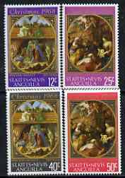 St Kitts-Nevis 1968 Christmas - Paintings perf set of 4 unmounted mint, SG 191-94
