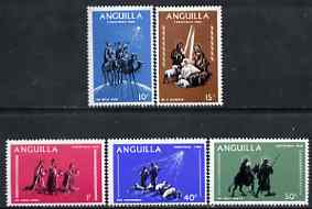 Anguilla 1968 Christmas perf set of 5 unmounted mint, SG 44-48, stamps on christmas, stamps on