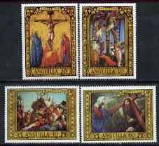 Anguilla 1970 Easter - Paintings perf set of 4 unmounted mint, SG 76-79