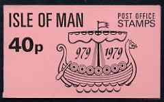 Booklet - Isle of Man 1979 Viking Longship 40p booklet complete (pink cover) SG SB9