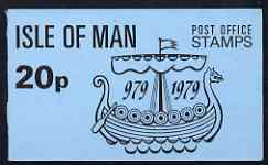 Booklet - Isle of Man 1979 Viking Longship 20p booklet complete (blue cover) SG SB8