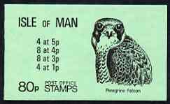 Booklet - Isle of Man 1980 Peregrine Falcon 80p booklet complete (green cover) SG SB12