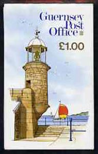 Booklet - Guernsey 1988 North Pier Lighthouse �1 booklet complete, SG B35