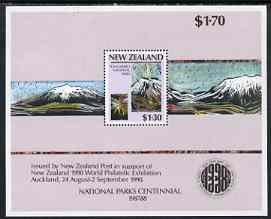 New Zealand 1987 National Parks perf m/sheet unmounted mint, SG MS 1432
