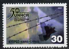 Cyprus 2001 50th Anniversary of UN Commission for Refugees unmounted mint SG1013*
