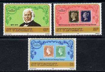 St Vincent 1979 Rowland Hill set of 3 unmounted mint, SG 578-80