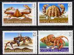 Cyprus 2001 Crabs perf set of 4 unmounted mint SG1017-20*