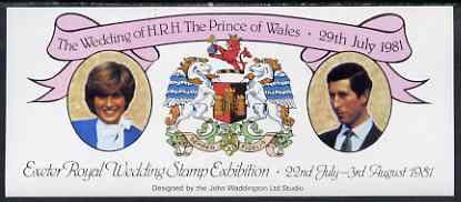 Exhibition souvenir sheet for 1981 Exeter Royal Wedding Stamp Exhibition unmounted mint