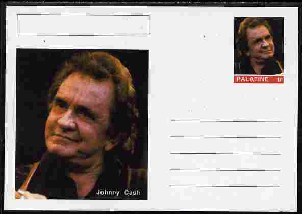 Palatine (Fantasy) Personalities - Johnny Cash postal stationery card unused and fine