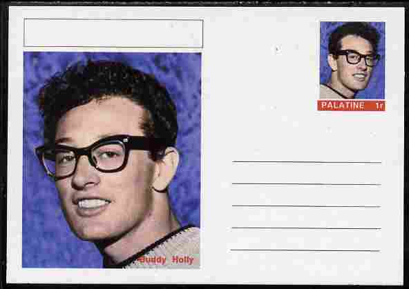 Palatine (Fantasy) Personalities - Buddy Holly postal stationery card unused and fine