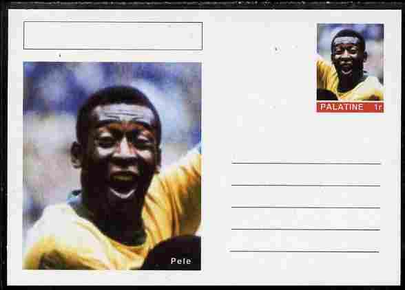 Palatine (Fantasy) Personalities - Pele (football) postal stationery card unused and fine