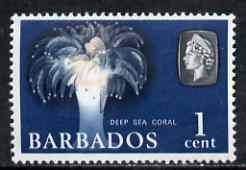 Barbados 1966-69 Deep Sea Coral 1c def (wmk sideways) unmounted mint SG 342