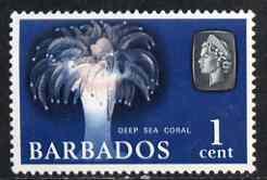 Barbados 1965 Deep Sea Coral 1c def (wmk upright) unmounted mint SG 322