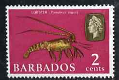Barbados 1965 Lobster 2c def (wmk upright) unmounted mint SG 323