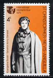 St Kitts-Nevis 1975 Evangeline Booth (Salvation Army) 4c from Int Women