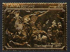 Staffa 1977 Thanksgiving Day \A38 (Fish & Harvest) embossed in 23k gold foil (Rosen #558) unmounted mint