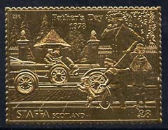 Staffa 1978 Father's Day \A38 (Early Car) embossed in 23k gold foil (Rosen #620) unmounted mint