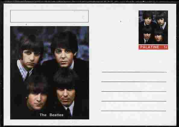 Palatine (Fantasy) Personalities - The Beatles postal stationery card unused and fine