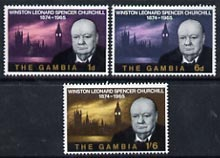 Gambia 1966 Churchill Commemoration perf set of 3 unmounted mint, SG 230-32