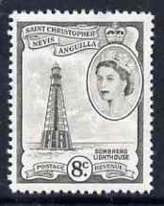 St Kitts-Nevis 1954-63 Sombrero Lighthouse 8c unmounted mint, SG 112b*