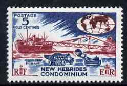 New Hebrides - English 1963-72 Exporting Manganese 5c from def set unmounted mint, SG 98