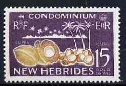 New Hebrides - English 1963-72 Copra 15c from def set unmounted mint, SG 100