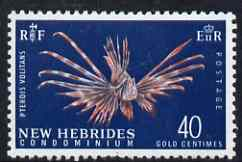 New Hebrides - English 1963-72 Lionfish 40c from def set unmounted mint, SG 104