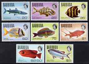 Barbuda 1968-70 Fish - the 8 values from definitive set (20c to $5) unmounted mint SG 20a-27