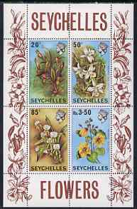 Seychelles 1970 Flowers perf m/sheet unmounted mint, SG MS 292