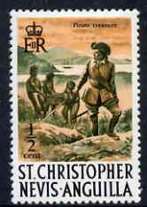 St Kitts-Nevis 1970-74 Pirates & Treasure 0.5c  from def set unmounted mint, SG 206