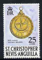 St Kitts-Nevis 1970-74 Humphrey Cole's Astrolabe 25c from def set unmounted mint, SG 216