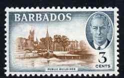 Barbados 1950 Public Buildings 3c from def set unmounted mint, SG 273