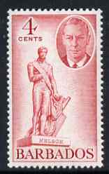 Barbados 1950 Statue of Nelson 4c from def set unmounted mint, SG 274