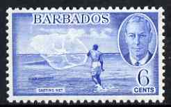 Barbados 1950 Casting Fishing Net 6c from def set unmounted mint, SG 275