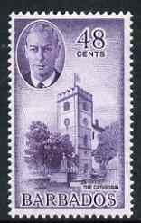 Barbados 1950 St Michael's Cathedral 48c from def set unmounted mint, SG 279