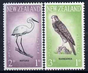 New Zealand 1961 Health - Egret & Falcon set of 2 unmounted mint, SG 806-7