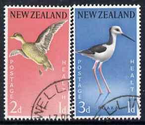 New Zealand 1959 Health - Teal & Stilt set of 2 fine used, SG 776-77